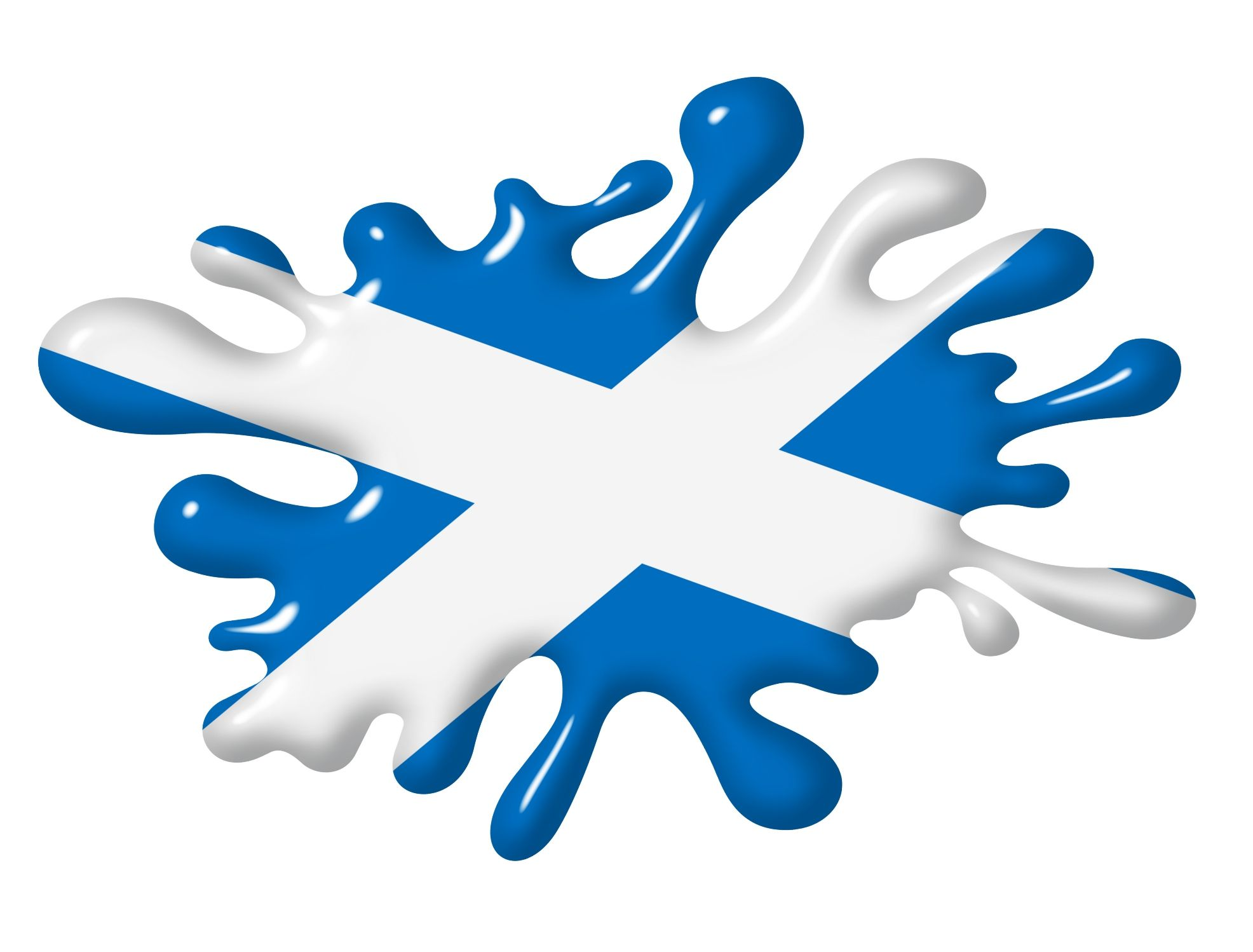 3d Shaded Effect Splat Design With Scotland Scottish