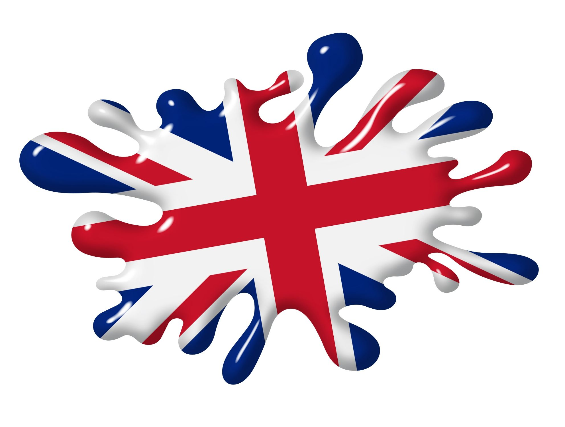 Car sticker designs images - 3d Shaded Effect Splat Design With Union Jack British Flag Motif External Vinyl Car Sticker 100x150mm