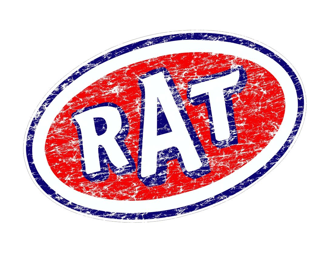 Distressed Aged Rat Oval Funny Parody Design For Rat Look