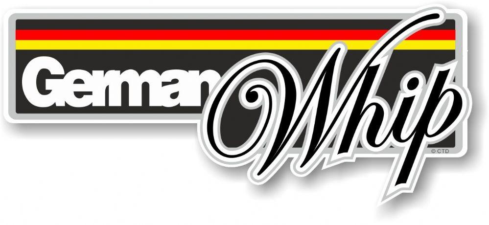 Funny german whip slogan with german flag novelty bumper sticker design vinyl car sticker decal 160x70mm