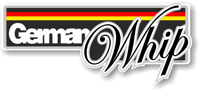 Car sticker design - Funny German Whip Slogan With German Flag Novelty Bumper Sticker Design Vinyl Car Sticker Decal 160x70mm