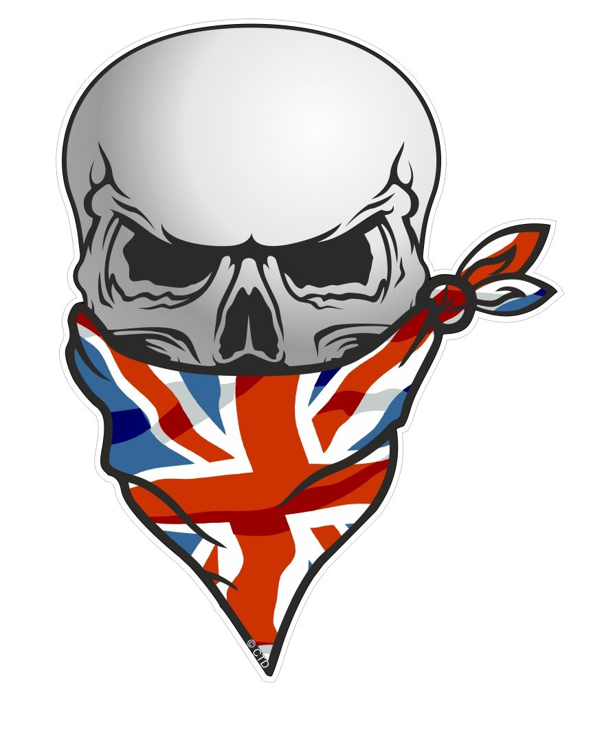 Gothic Biker Pirate Skull With Face Bandana Amp Union Jack