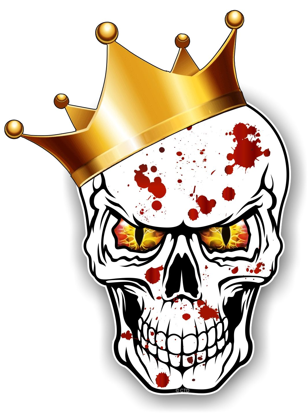 Gothic King Of Skull Skulls With Red Amp Yellow Evil Eyes