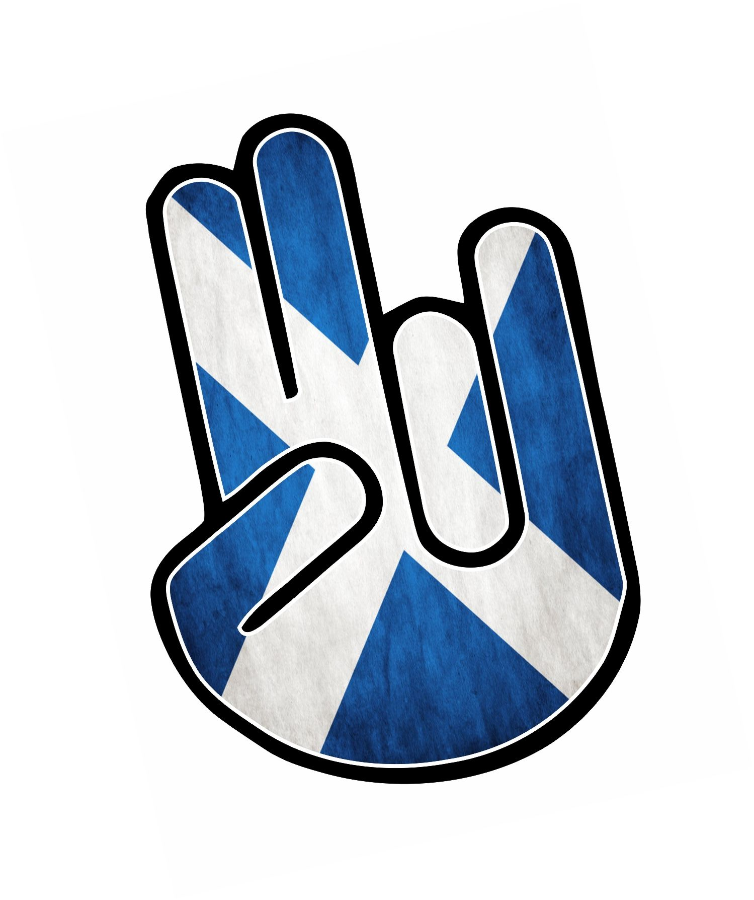 the shocker hand with scotland scottish saltire flag motif