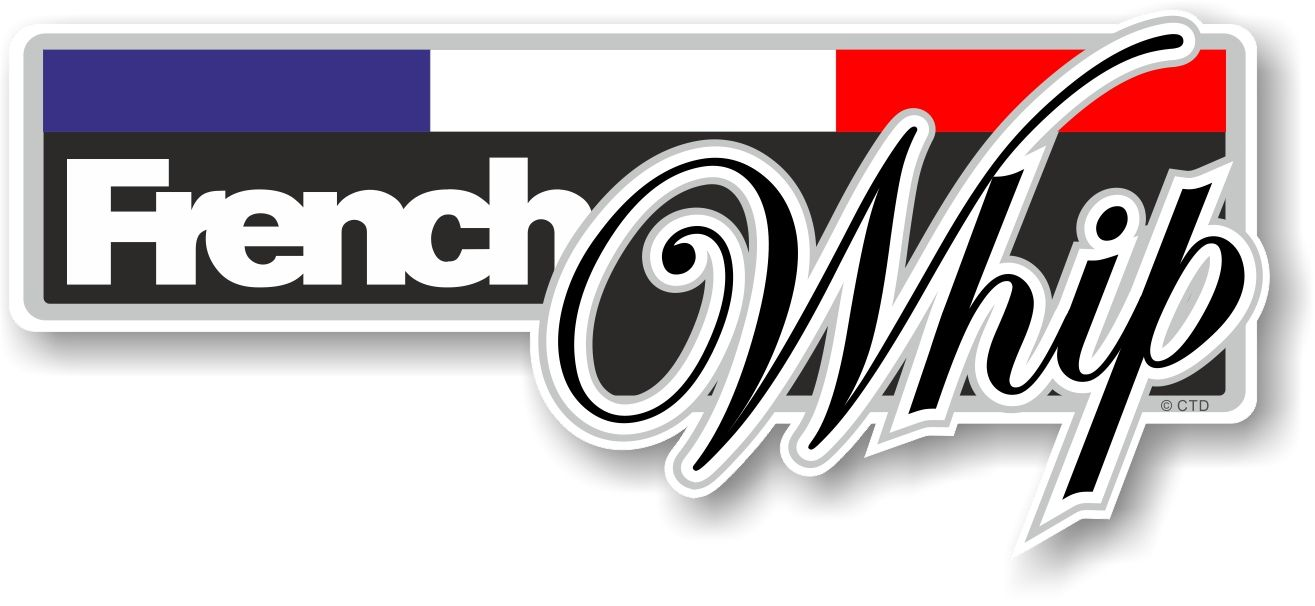 Funny french whip slogan with french flag novelty bumper sticker design vinyl car sticker decal 160x70mm