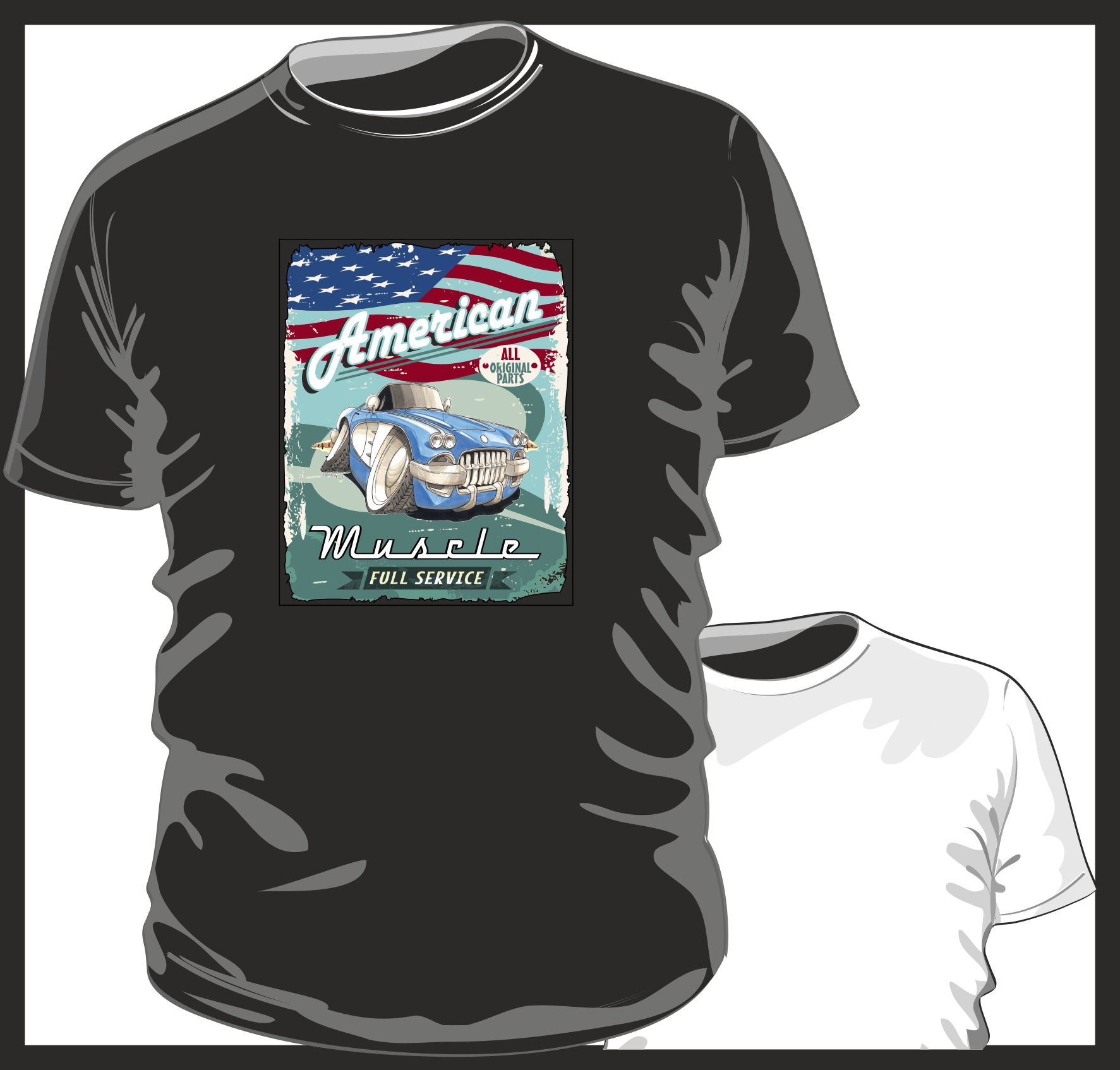 New Chevrolet Corvette Stingray Chevy Men/'s Vintage T-Shirt