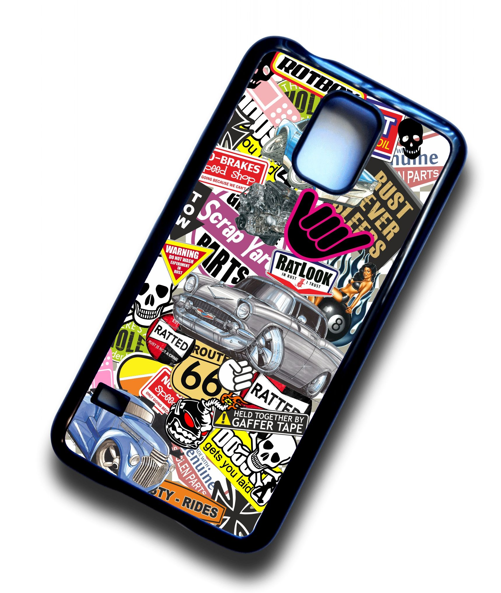 more photos 225e5 f7c21 Koolart STICKERBOMB STYLE Design For American Hotrod Hot Rod Theme Hard  Case Cover Fits Samsung Galaxy S5