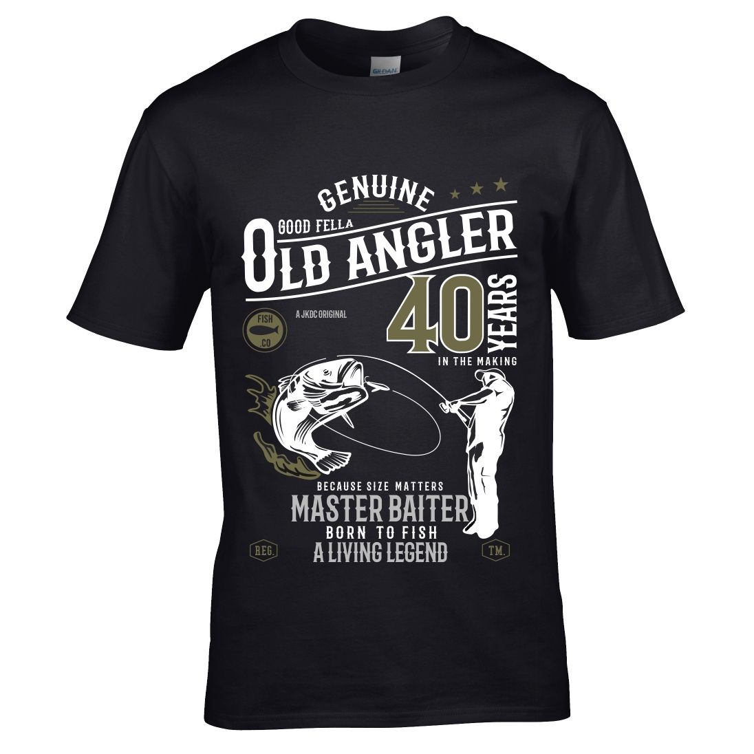 Premium Funny 40 Year Old Angler Fishing Motif For 40th Birthday Anniversary Gift Men S T Shirt Top